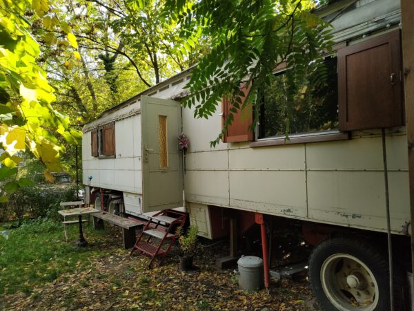 We found a caravan AirBNB near the nightlife in Berlin Germany