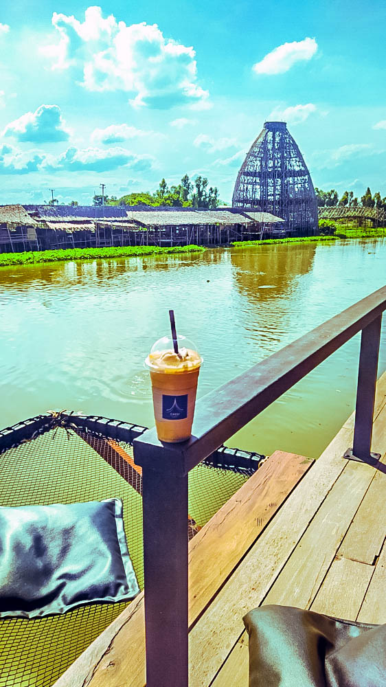 Coffee overlooking cafe chedi